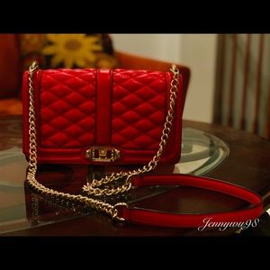 rebecca minkoff love crossbody(leather, coral red)